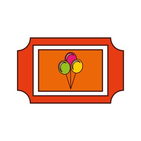 Ilustración de carnival tickets isolated icon vector illustration design - Imagen libre de derechos