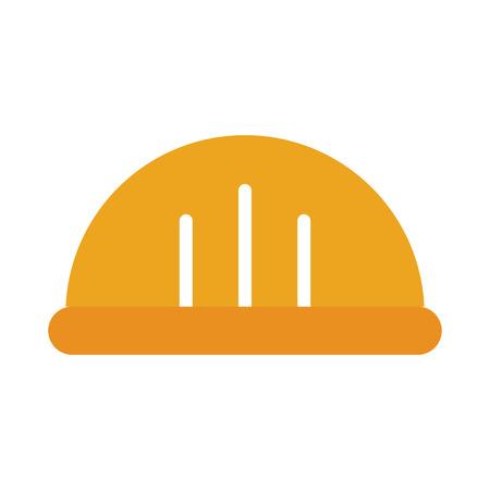 Ilustración de helmet construction isolated icon vector illustration design - Imagen libre de derechos