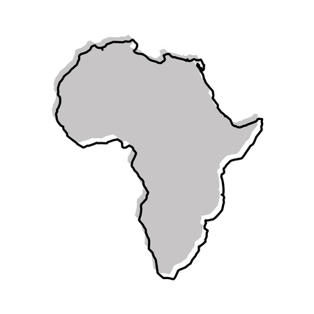 Illustration for africa map isolated icon vector illustration design - Royalty Free Image