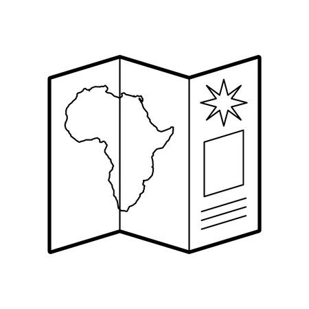 Ilustración de Safari brochure in Africa vector illustration design - Imagen libre de derechos