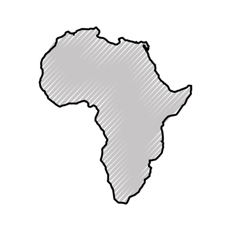 Illustration pour africa map isolated icon vector illustration design - image libre de droit