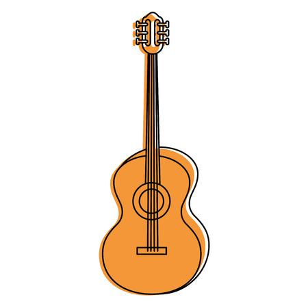 Illustrazione per Acoustic guitar music instrument icon vector illustration graphic design - Immagini Royalty Free