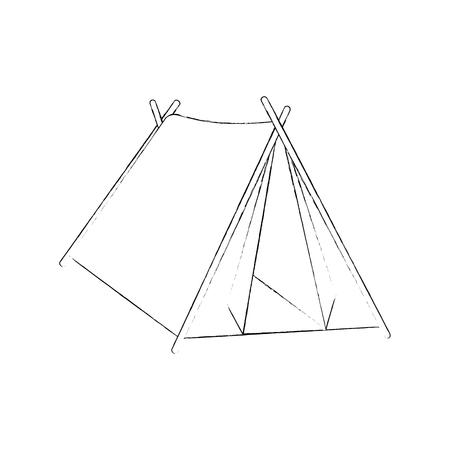 Ilustración de Camping tent isolated icon vector illustration graphic design - Imagen libre de derechos