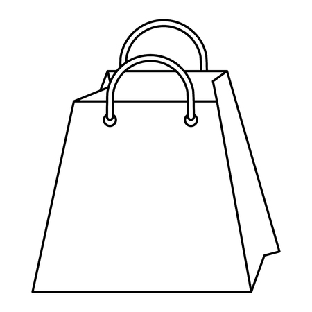 Ilustración de Shopping bag isolated icon vector illustration graphic design - Imagen libre de derechos