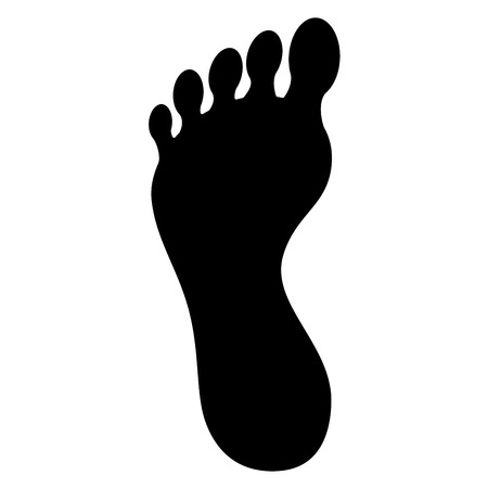 Ilustración de Foot plants isolated icon vector illustration design - Imagen libre de derechos