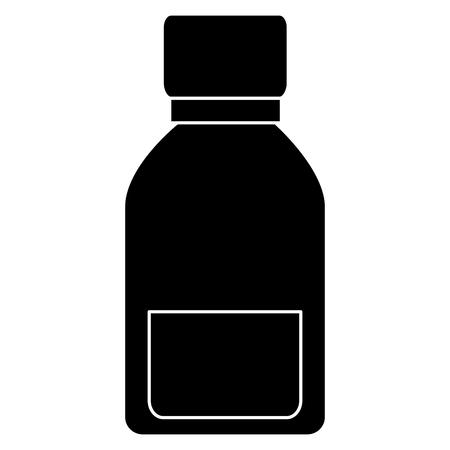 Ilustración de Medical drug bottle icon vector illustration design - Imagen libre de derechos