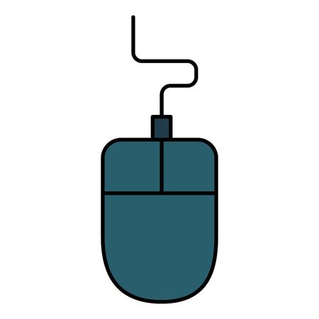 Ilustración de computer mouse isolated icon vector illustration design - Imagen libre de derechos
