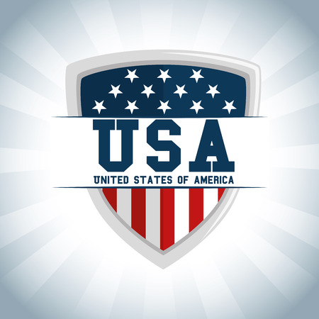 Illustration for Shield of United States of America theme Vector illustration - Royalty Free Image