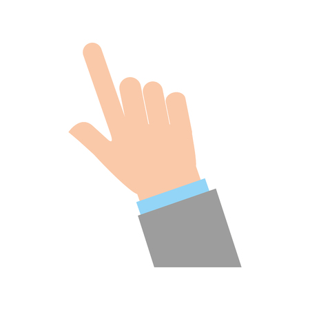 Illustration pour hand human index icon vector illustration design - image libre de droit