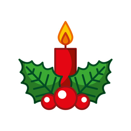 Illustration for candle christmas isolated icon vector illustration design - Royalty Free Image