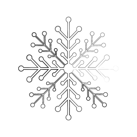 Illustration pour snow flake isolated icon vector illustration design - image libre de droit