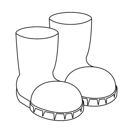 Ilustración de Uncolored boots illustration. - Imagen libre de derechos