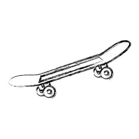 Ilustración de Skate board isolated icon vector illustration design - Imagen libre de derechos