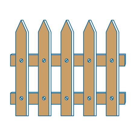 Ilustración de Fence wooden isolated icon vector illustration design - Imagen libre de derechos