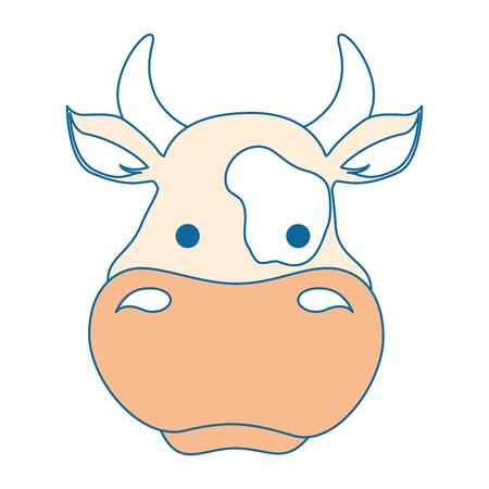 Ilustración de farm cow isolated icon vector illustration design - Imagen libre de derechos
