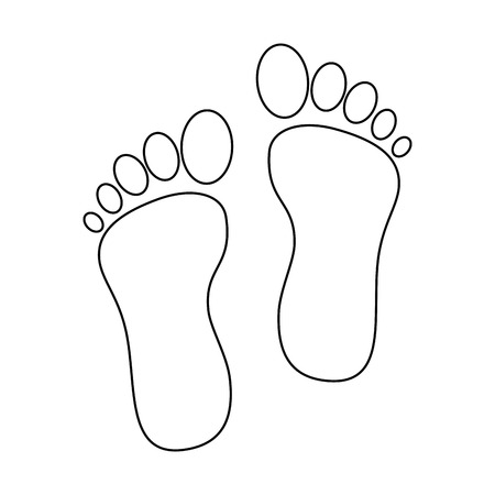 Illustration for Foot print isolated icon vector illustration design - Royalty Free Image