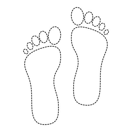 Ilustración de Foot print isolated icon vector illustration design - Imagen libre de derechos