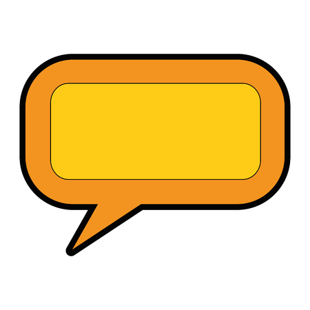 Illustration pour speech bubble message icon vector illustration design - image libre de droit