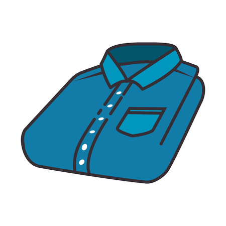 Illustration for Folded shirt isolated icon vector illustration design - Royalty Free Image