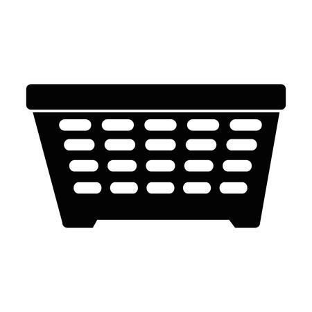 Ilustración de Laundry basket isolated icon vector illustration design - Imagen libre de derechos