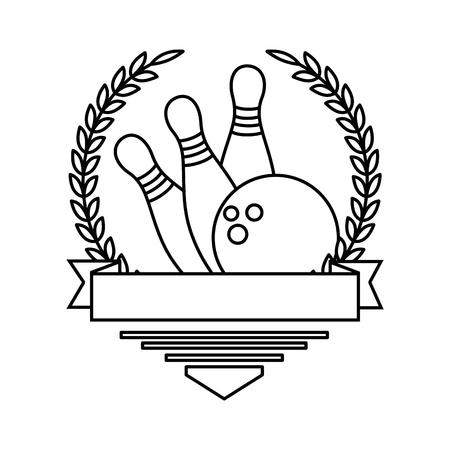 Ilustración de bowling ball and pines sport icon vector illustration design - Imagen libre de derechos