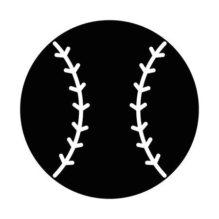 Ilustración de baseball ball emblem icon vector illustration design - Imagen libre de derechos
