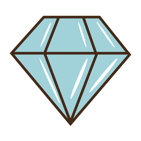 Illustration for diamond vintage vector icon vector illustration graphic design - Royalty Free Image