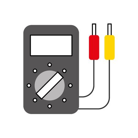 Ilustración de car battery tester appliance measure power vector illustration - Imagen libre de derechos