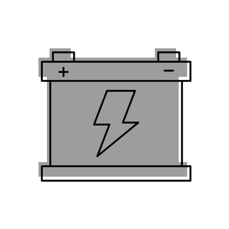 Illustration pour car battery accumulator energy power and electricity icon vector illustration - image libre de droit