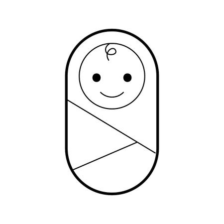 Ilustración de baby wrapped in blanket clothes healthcare vector illustration - Imagen libre de derechos