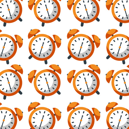 Illustration for alarm clock time seamless pattern design vector illustration - Royalty Free Image