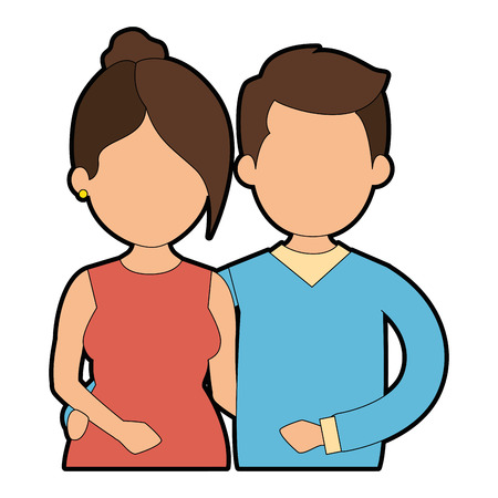 Illustration pour cute couple in love vector illustration design - image libre de droit