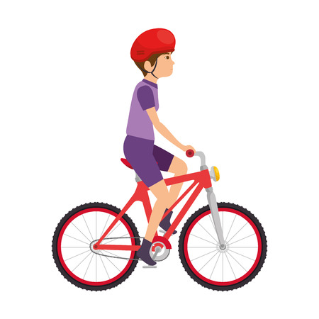 Illustrazione per cycling man riding a bicycle vector illustration design - Immagini Royalty Free