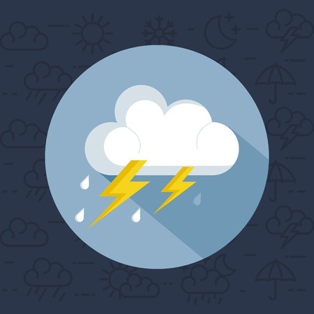 Illustration for weather storm thunderstorm icon vector illustration design - Royalty Free Image
