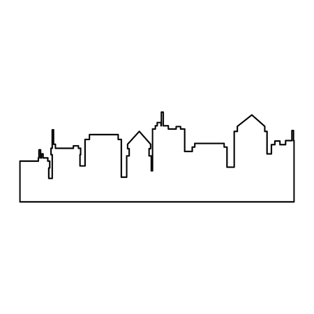 Illustration pour cityscape silhouette isolated icon vector illustration design - image libre de droit