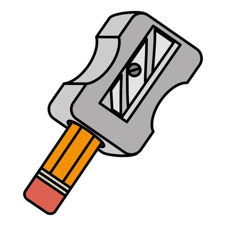 Ilustración de sharpenner school with pencil vector illustration design - Imagen libre de derechos