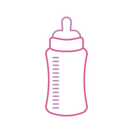 Illustration pour baby shower bottle milk little decorative vector illustration - image libre de droit