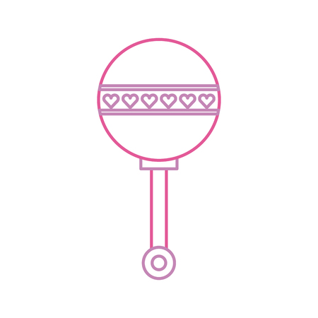 Illustration pour baby shower rattle toy gift icon vector illustration - image libre de droit