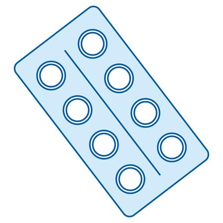 Ilustración de pills drugs isolated icon vector illustration design - Imagen libre de derechos