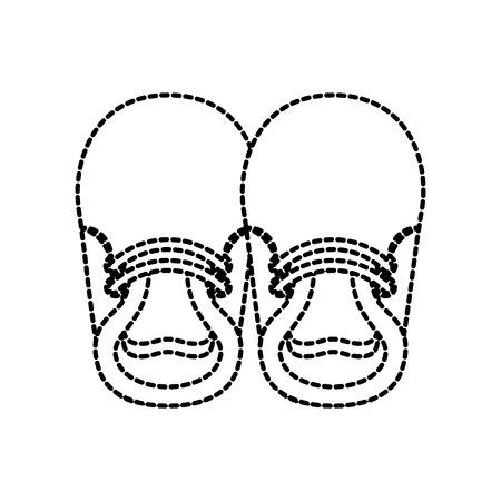 Illustration pour Baby booties for boy - image libre de droit