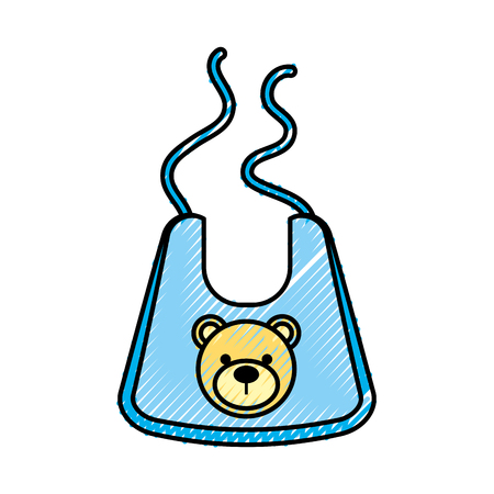 Illustration pour Baby boy shower bib accessory design. - image libre de droit