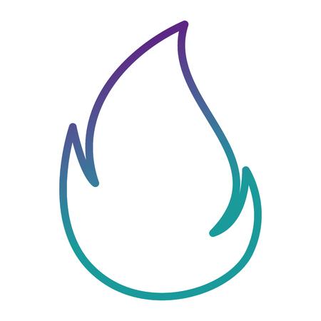 Illustration pour fire flame isolated icon vector illustration design - image libre de droit