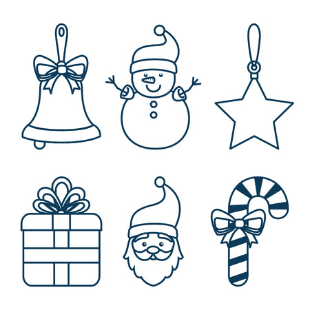 Illustration pour christmas holiday decoration set vector illustration graphic design - image libre de droit