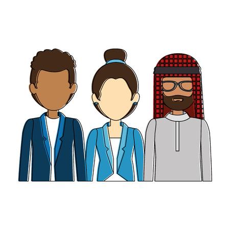 Illustrazione per group of business people vector illustration design - Immagini Royalty Free