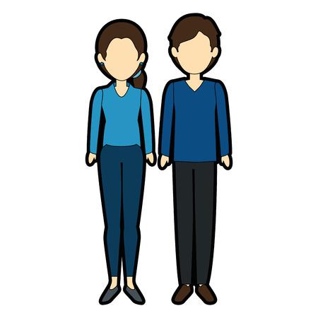 Illustrazione per couple of business people vector illustration design - Immagini Royalty Free