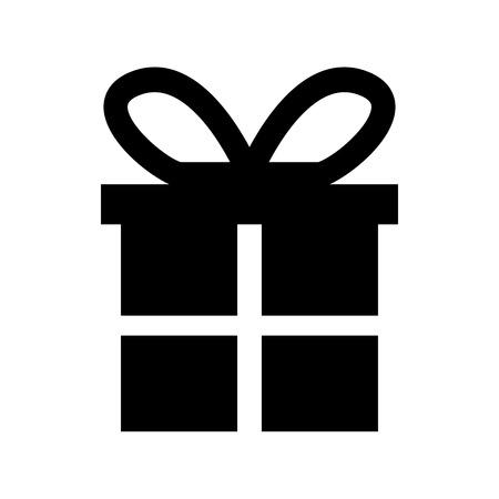 Ilustración de christmas gift box ornament with bow party celebration vector illustration - Imagen libre de derechos