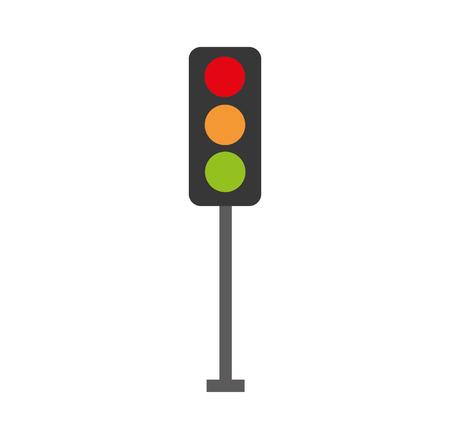 Illustrazione per traffic lights electric equipment control vector illustration - Immagini Royalty Free