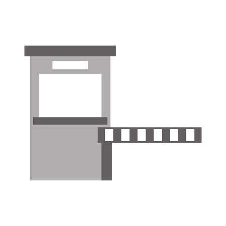 Illustration pour Parking payment station access control concept illustration. - image libre de droit