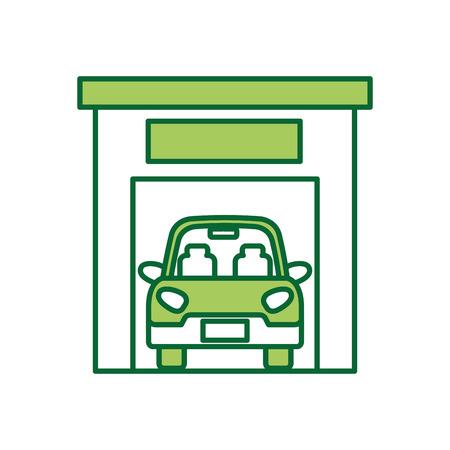 Illustration pour car inside garage icon image vector illustration - image libre de droit