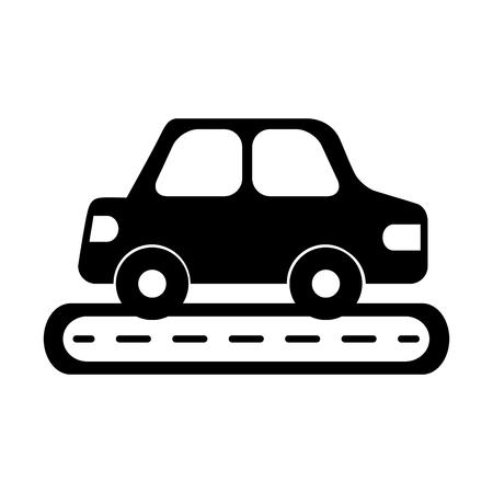 Illustration pour Car sedan on street vehicle urban side view illustration. - image libre de droit